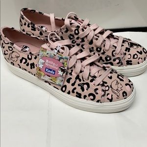 Kate Spade Keds Betty Veronica leopard pink shoes